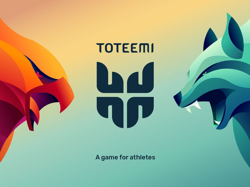 Toteemi: Hawkees vs Coyotees battle branding athletes game design game art illustration logo game
