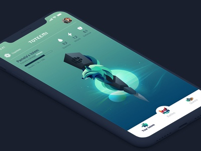 Toteemi app: Coyotee home coyote running cycling athlete sport app game totem pole totem animal illustration design interface ui mobile