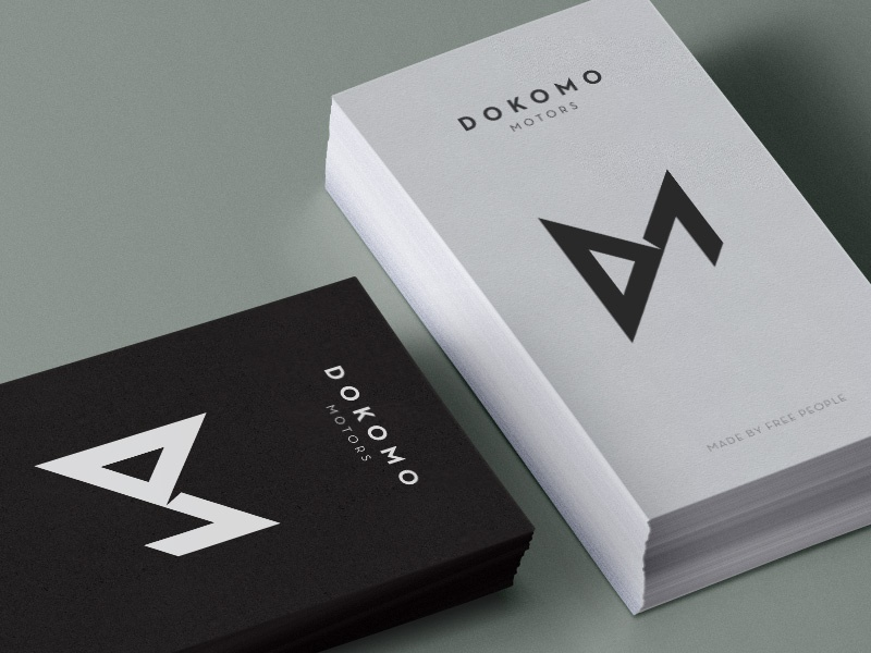 Dokomo Motors Business Cards cards stationery logo branding
