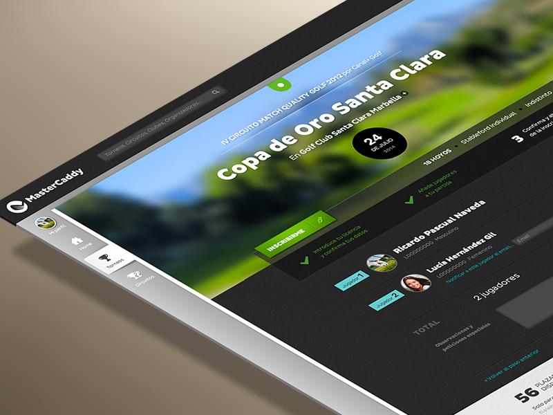 MasterCaddy Interface website interface ui ui design web design design green golf application layout navigation process
