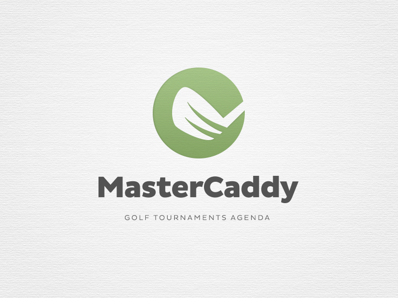 MasterCaddy Logo logo brand branding golf design identity green negative space