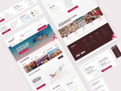Volotea Website: Desktop destinations flights bookings application desktop branding ux design system design ui interface website airline