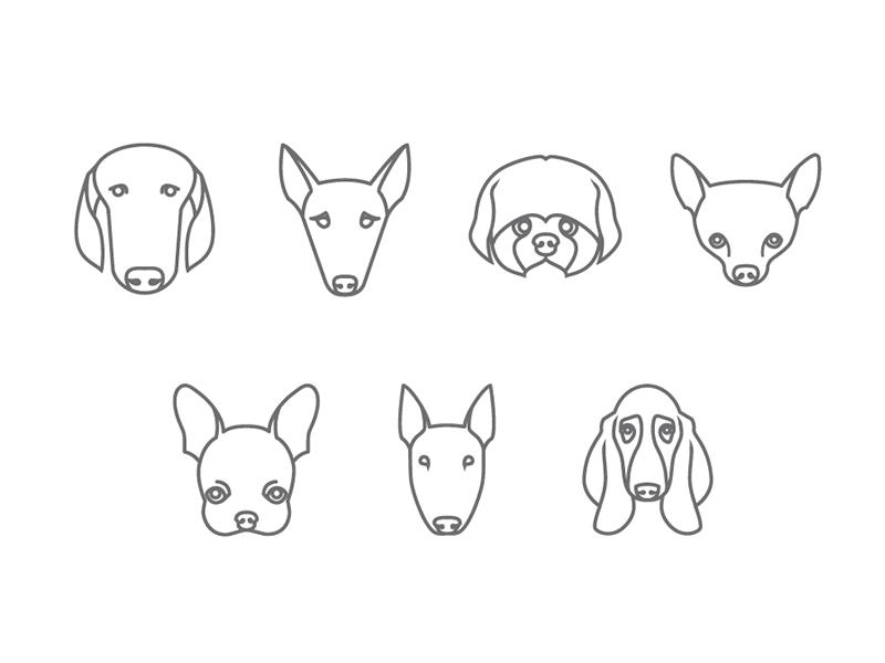 Dogcons icon dog illustration