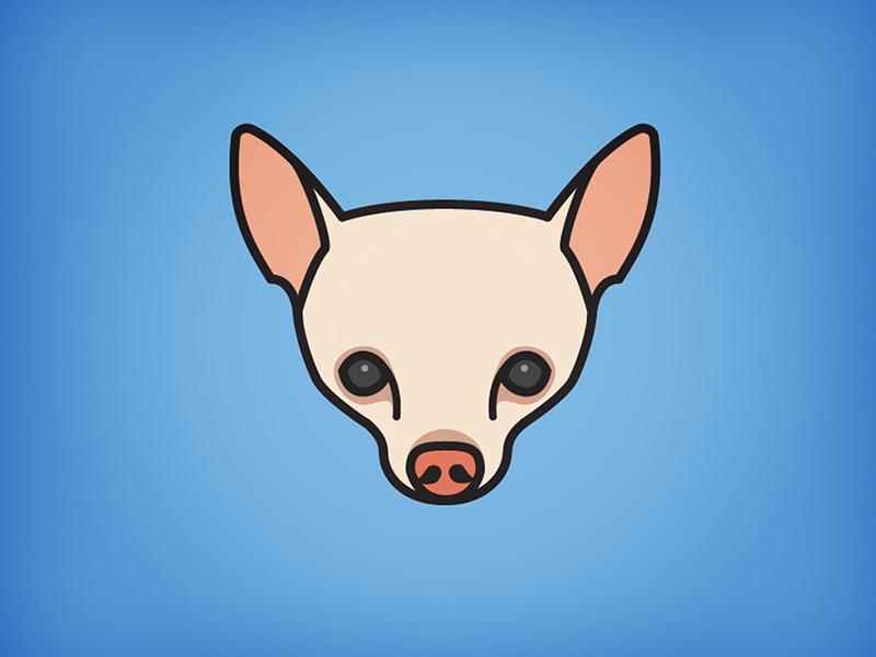 Chihuahua dog icon illustration chihuahua blue