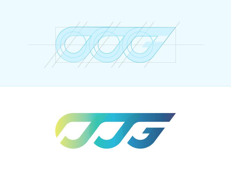 TTG Monogram logo corporate identity brand branding design logotype monogram gradient yellow green blue purple