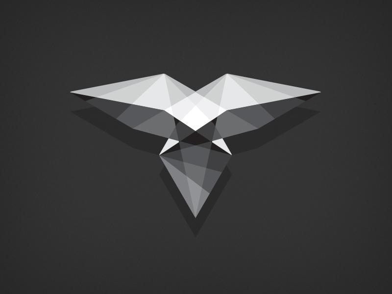 Polygon bird illustration design greyscale bird polygon abstract geometric shapes