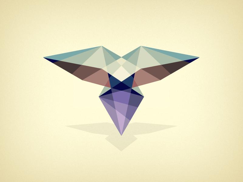 Polygon bird - Color illustration design color bird polygon abstract geometric shapes