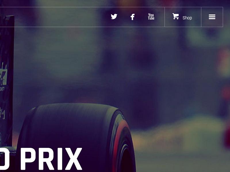 Fernando Alonso Official Website Navigation Detail clean design ui navigation nav