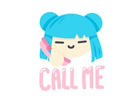 Call me - Sticker