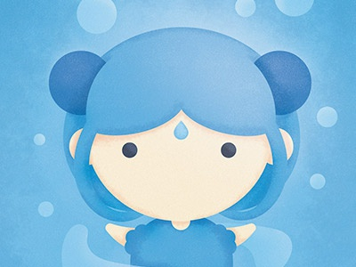 The Legend of Avatar - Master of Water kawaii nature power character girl poster master water art digital painting illustration