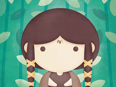 The Legend of Avatar - Master of Earth fan power poster painting nature master kawaii illustration girl digital character art