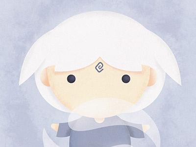 The Legend of Avatar - Master of Air air power poster painting nature master kawaii illustration girl digital character art