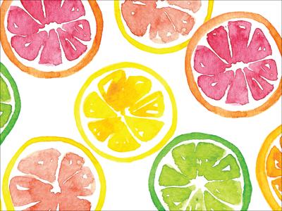 Citrus illustration pattern surface pattern surface design fruit citrus watercolor