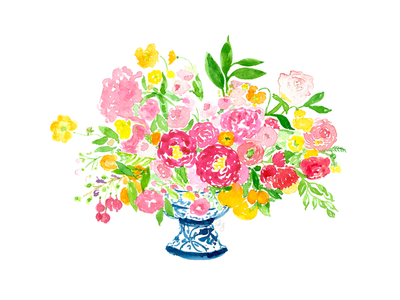 Tulipina Floral Painting