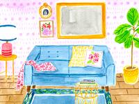 Interior Illustration • Watercolor