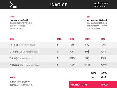 Invoice  invoice