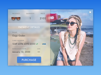 Daily UI Challenge #002  — Credit Card Checkout purchase payment checkout credit card daily ui dailyui challenge