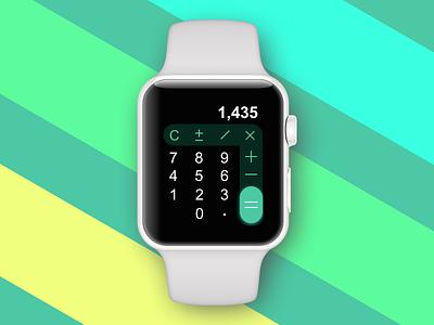 Daily UI Challenge #004 — Calculator apple watch daily ui watch challenge dailyui calculator