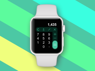 Daily UI Challenge #004 — Calculator apple watch daily ui watch challenge dailyui calculator