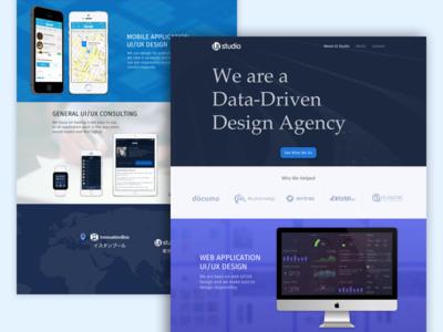 UI Studio Corporate Site company website home page website corporate site