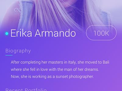 Profile Page tags portfolio photographer profile