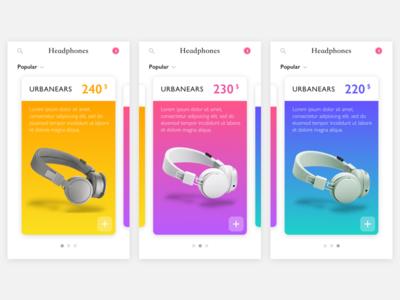 Mobile Parallax headphone parallax