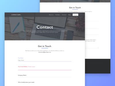 Contact Form corporate glitch glitch effect portfolio design project company website