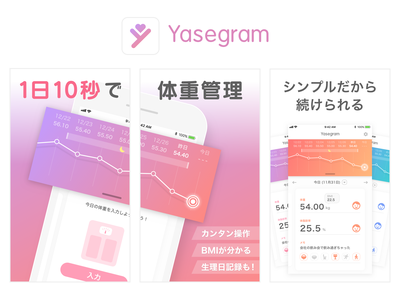 Yasegram Weight Tracking App weights tracking mobile app period fat weight loss weight