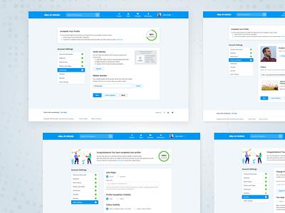Account Settings - Verification & Security service design ui design product design platform security verification profile dashboard ux ui