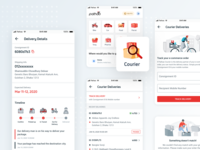 Delivery Tracking from Pathao App app ui card ui illustration interface ecommerce ui design mobile ui delivery icon product design ux ui app tracking courier