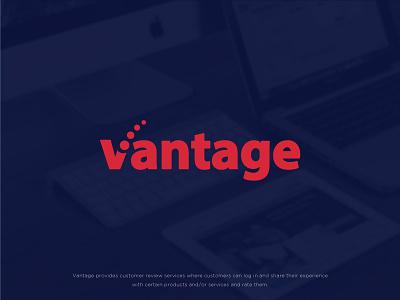 Vantage brand graphic design project customer reviews verification brand identity logo type logos identity branding logo