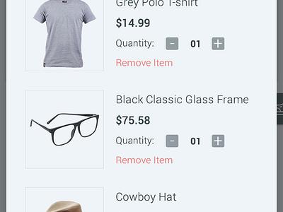 Ecommerce App - Home & Cart design checkout shop app product shopping cart interface ux ui ecommerce