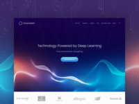 Deeprlearn - Landing Page Concept