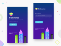 Biztenance - Splash & Sign Up