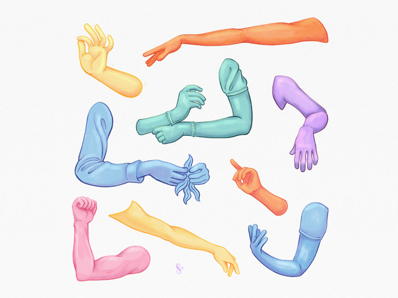 Hand Structure Anatomy Study realism process video illustration gestures colors color hands hand character anatomy