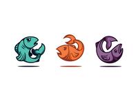 Fish logo illustrations