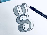 Letter G hand lettering