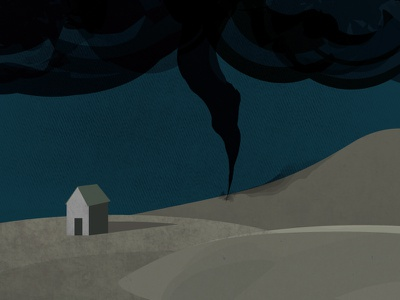 Tornado illustration 2d textures illustrator bad weather tornado