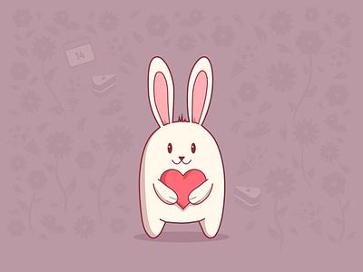 Bunny Valentine valentine bunny warmup digital painting character digitalart illustration drawing concept vector design sketch