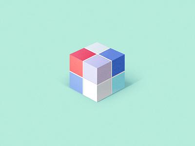 Rubik's Cube cube gradient digital 3d flat design digitalart illustration drawing concept vector design sketch