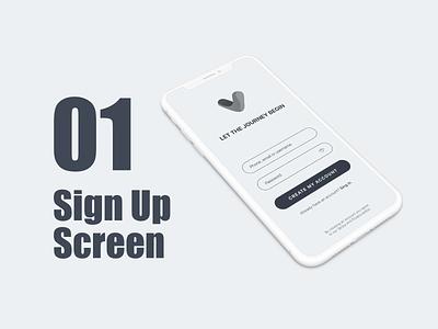 Sign Up Screen mobile ui ux branding vector design ui sketch signup dailyui