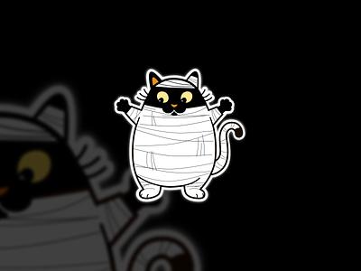 Cat Mascot branding flat illustration animal characterdesign halloween icon cat mascot digitalart character flat design design illustration drawing ui concept vector sketch