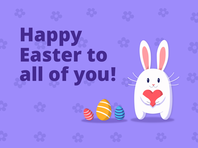 Easter Card bunny gradient digital concept drawing vector ui character flat design illustration sketch