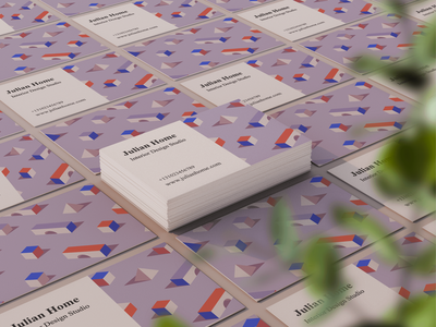 Business Cards for Interior Design Studio corporate colorful isometric modern abstract isometric design minimalistic print design pattern design business card typogaphy logo icon branding flat design drawing design concept vector sketch