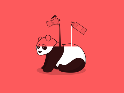 What is Panda made of? milk coffee minimal flat design digital painting character digitalart vector concept design bear panda drawing illustration sketch