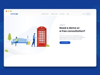 Illustration and UI for InMobi's Contact Us Page
