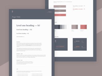 Personal website styleguide styleguide typography website