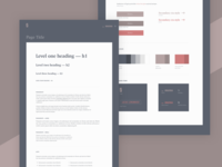 Personal website styleguide