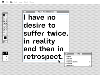 Retrospective retro typography vector ui design adobe creative illustration