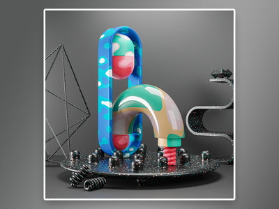 H - 36 days of type abstracttypography abstractshapes thedesignfix artoftype typography typedesign 3dtypeinspiration 3dtypography 3dtype typegang thedailytype 36daysoftype08 blendercommunity blender abstractpack 36daysoftyp